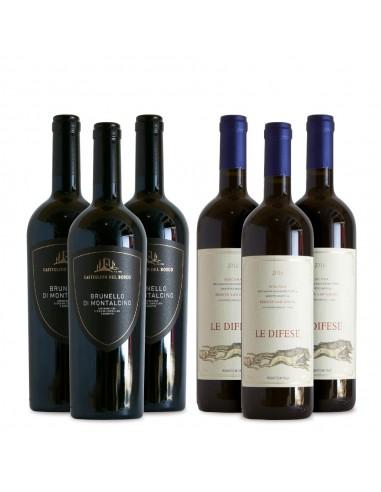 6 Bottles Brunello 2015 -  Le Difese...